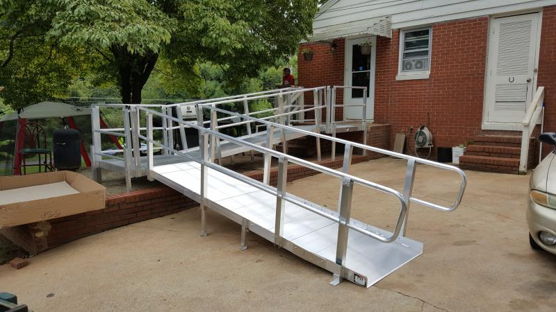 30' modular ramp system made by PVI